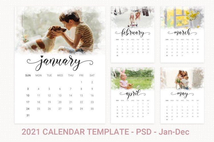2021 photo calendar template, printable calendar