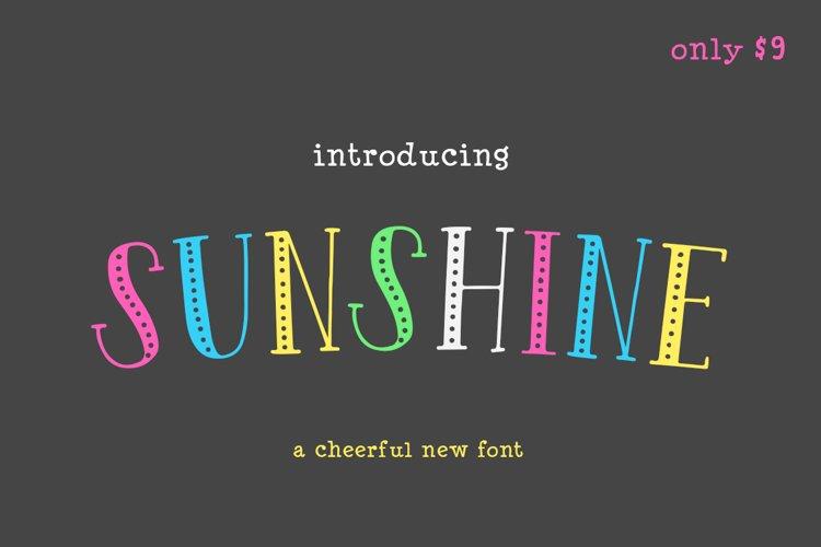 Sunshine Font example image 1