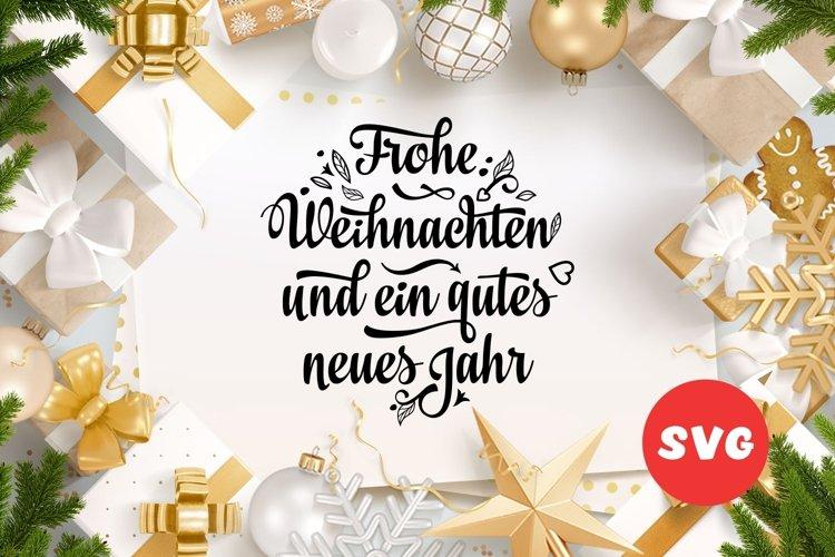 Frohe Weihnachten Deutschland Christmas svg Around the World example image 1