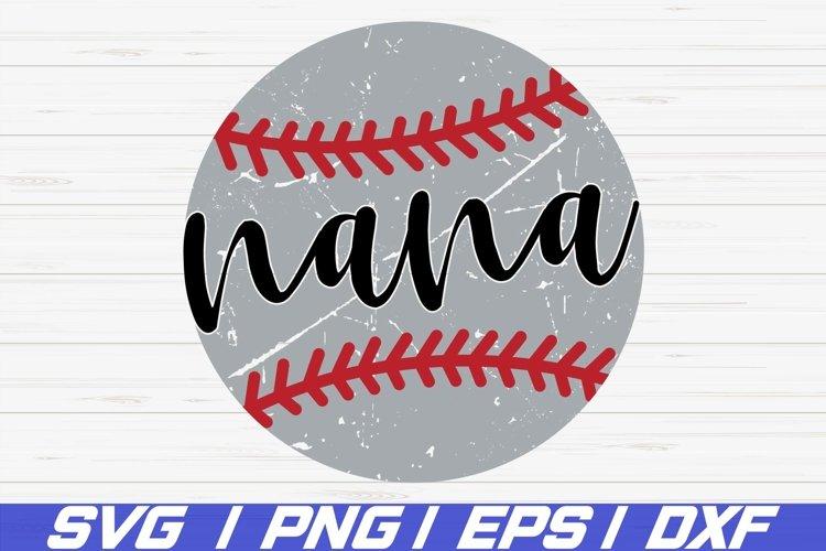 Baseball Nana SVG / Cricut / Cut File / Commercial use / DXF example image 1