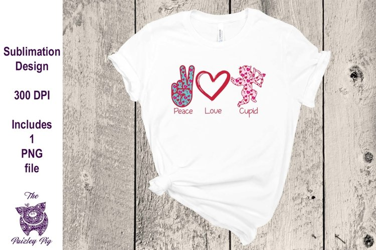 Peace Love CupidSublimation File example image 1