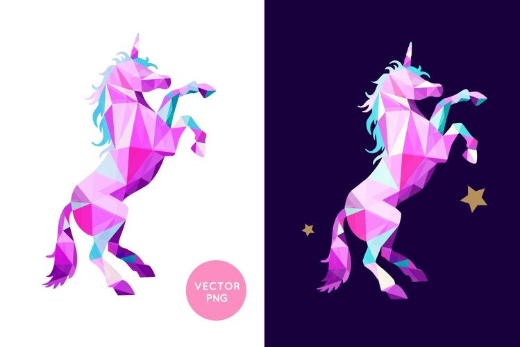 Magical Unicorn svg illustration, Unicorn clipart example image 1