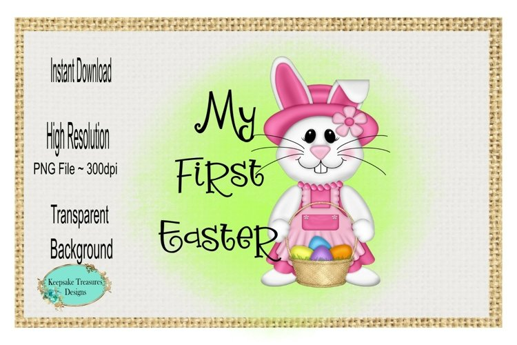 My First Easter, Girl,Sublimation Design