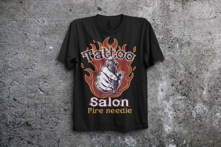Fire needle -tattoo salon label font example 6