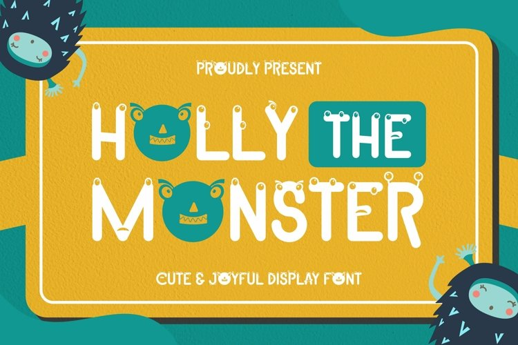 Web Font Holly The Monster Font example image 1