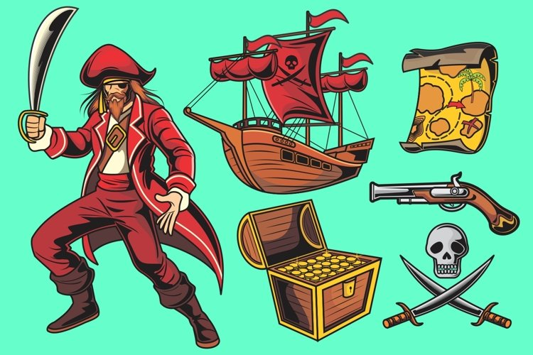 Pirate Vector Pack example image 1