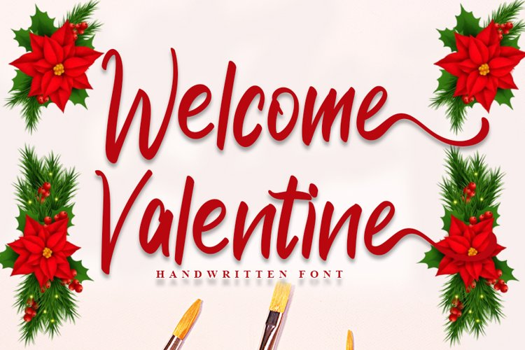 Welcome Valentine - Modern Handwritten Font example image 1