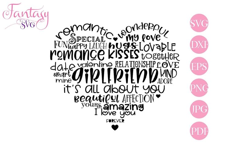 Girlfriend Word Art - Svg Cut Files example image 1