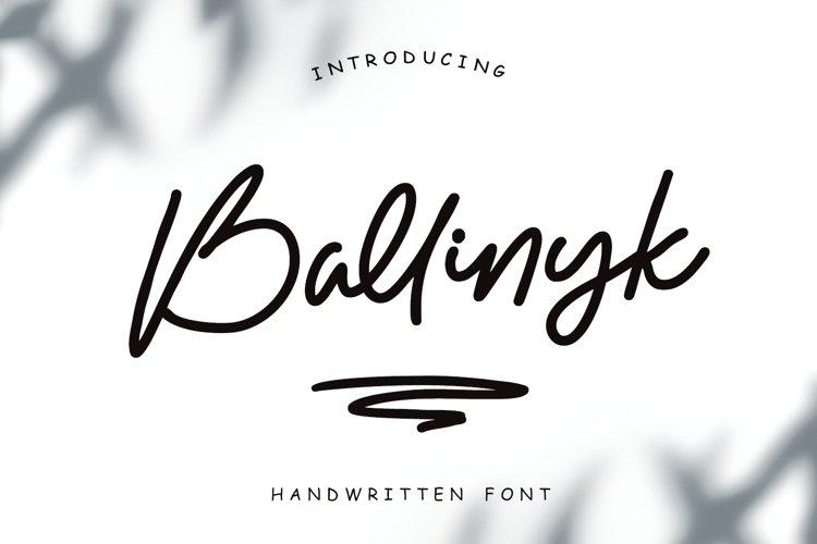 Ballinyk - Handwritten Font example image 1
