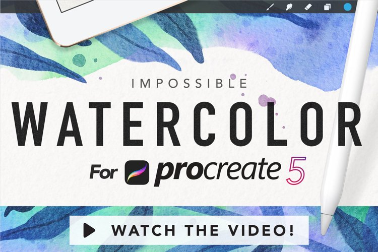 Amazing Watercolor Kit for Procreate