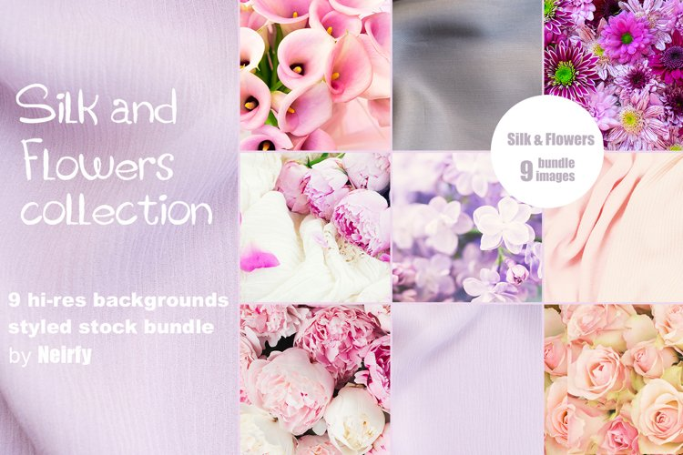 Silk and Flowers images collection