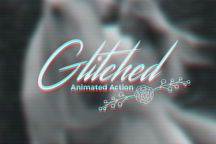 Animated Glitch Effect Action example image 1