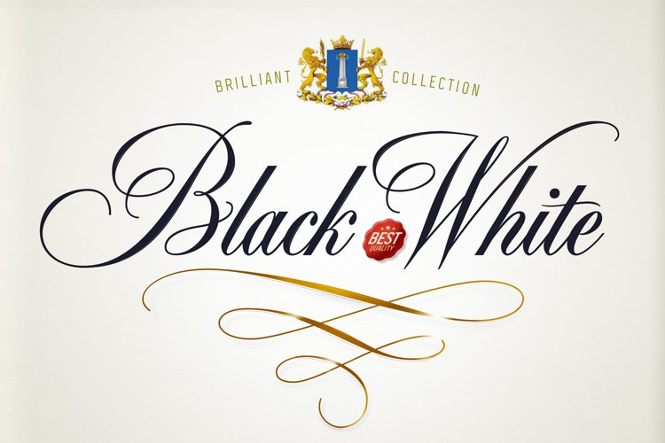 Black & White - premium quality font example image 1