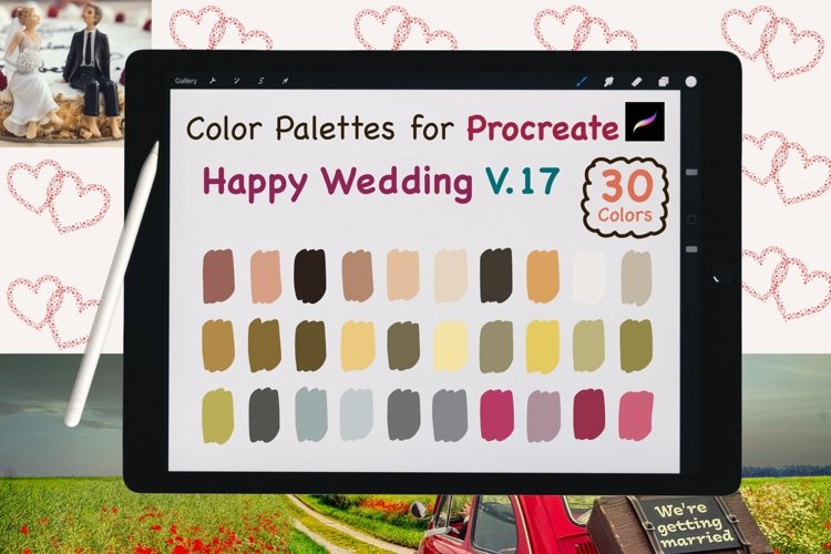 Color Palettes set for Procreate - Happy Wedding V.17 example image 1