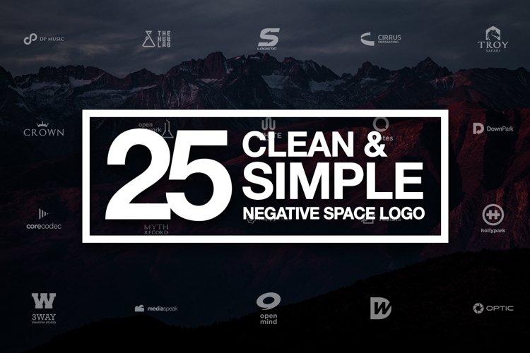 25 Negative Space Logo - Vol 21 AI EPS CDR PDF