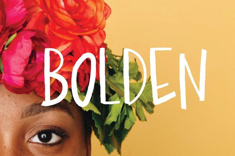 Bolden | Sans Serif Font example image 1