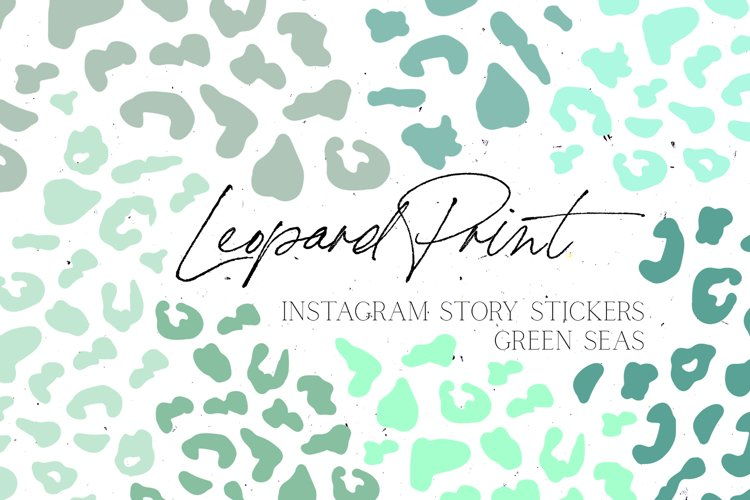 Green Leopard Print Instagram Story Stickers example image 1