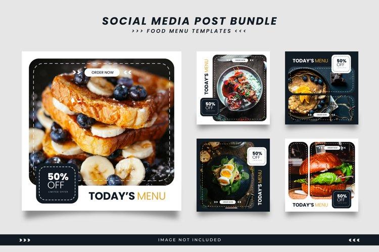 Social media templates for food menu