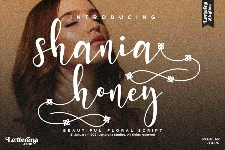 shania honey - Beautiful Script Font example image 1