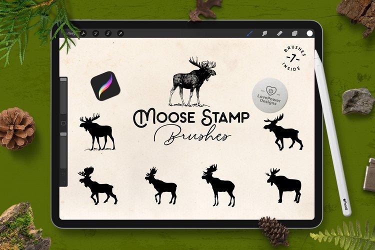 Procreate Brushes   Moose Stamp Brushes for Procreate