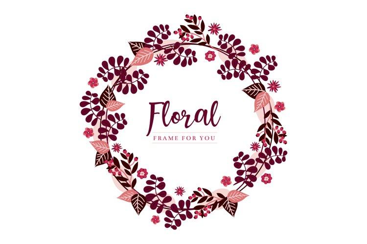 Floral frame spring design example image 1