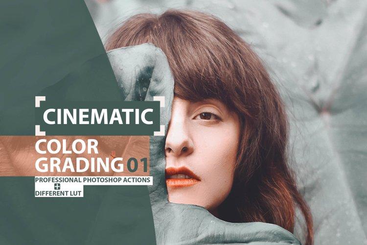Cinematic Color Grading 01 Premium photoshop action example image 1