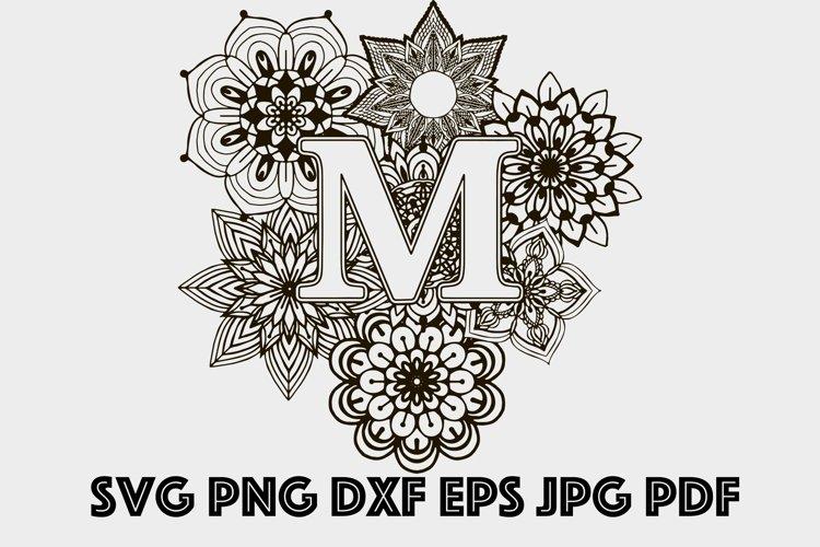 Letter M Mandala SVG, Alphabet Svg, Letters SVG, Mandala SVG