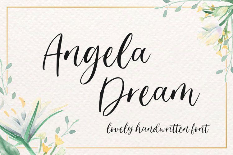 Angela Dream - Lovely Font example image 1