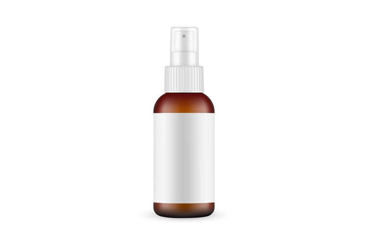 Glass Spray Bottle Mockup With Blank Label example image 1