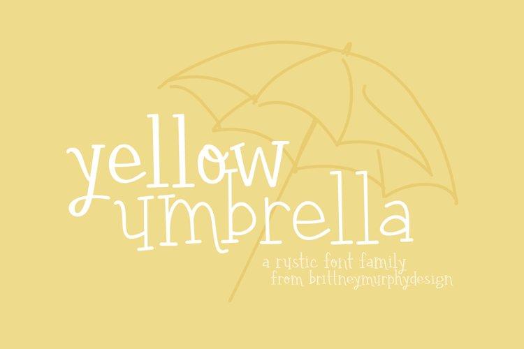 Yellow Umbrella example image 1