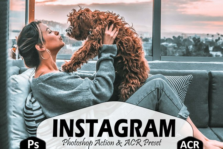 10 Instagram Photoshop Actions, ACR and LUT presets, insta