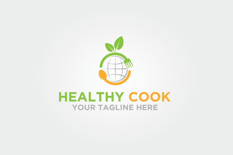 Healthy Food Cook World Logo example image 1