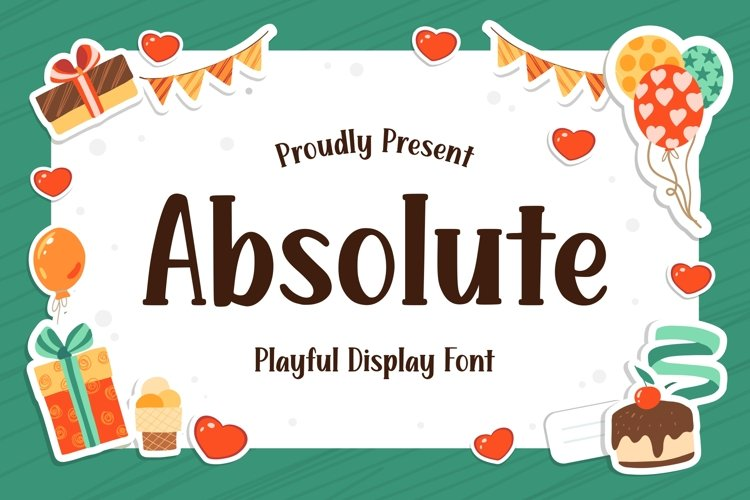 Absolute - Playful Display Font example image 1