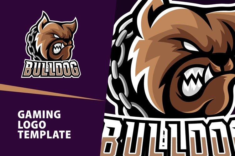 Bulldog Gaming Logo Template example image 1