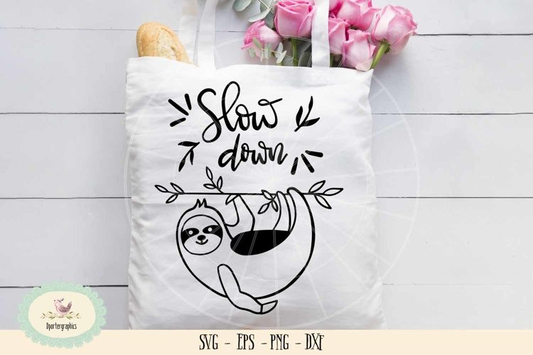 Sloth slow down SVG cut file example image 1