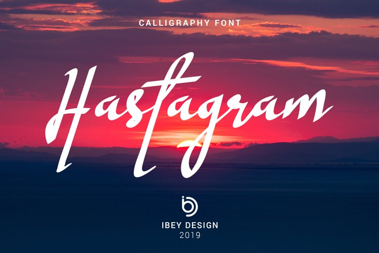 Hastagram - Calligraphy Font example image 1