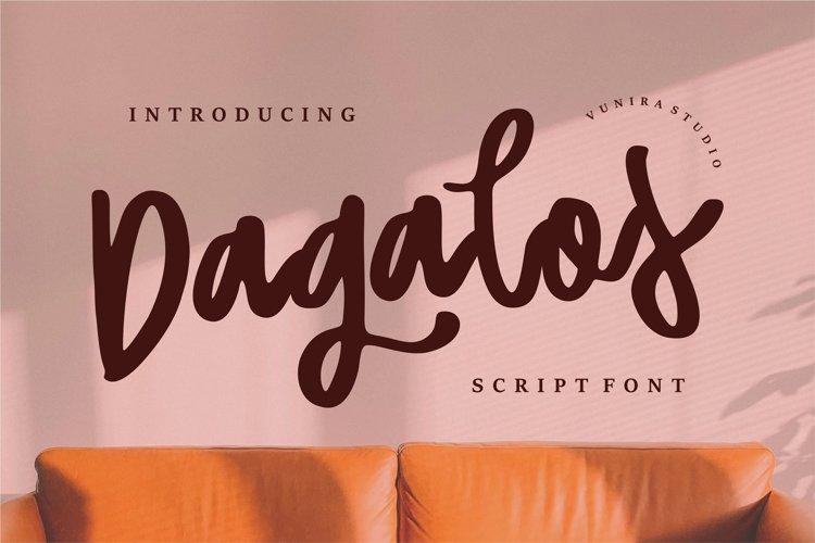 Dagalos   Script Font example image 1