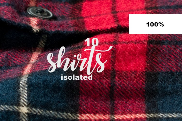 Christmas check red shirts isolated on white Element Object example 1