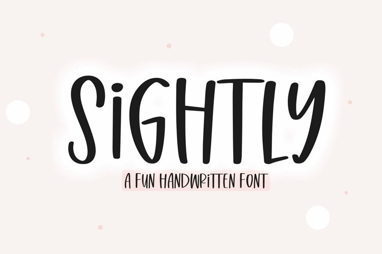 Web Font Sightly - A Quirky Handwritten Font example image 1