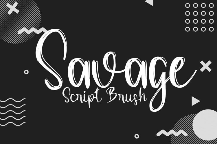 Savage Love Script Brush Font example image 1