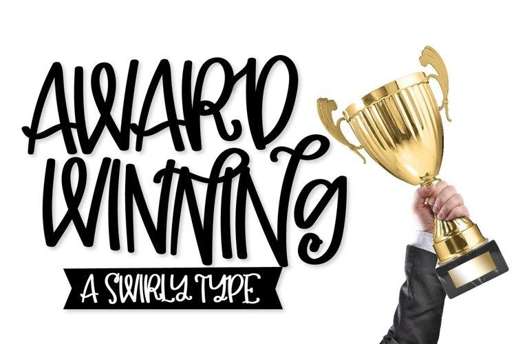 Web Font Award Winning - A Swirly Type
