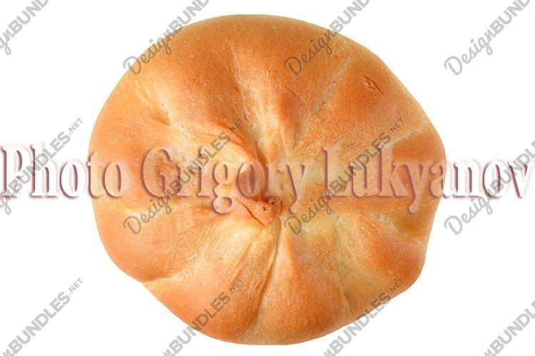 Stock Photo - sweet bun with filling isolated example image 1