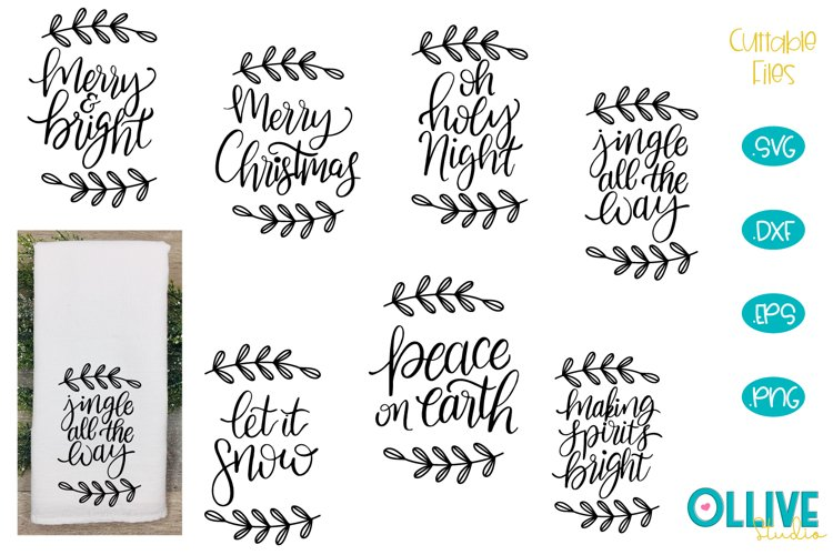 Christmas Bundle Hand Lettered SVG example image 1