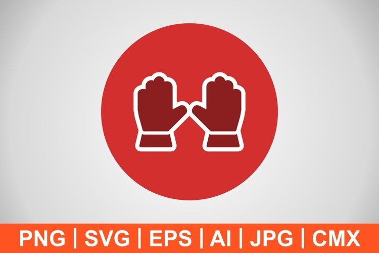 Vector Gloves Icon example image 1