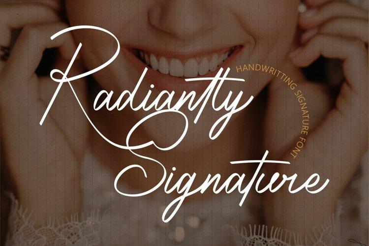 Radiantly Signature - Handwriting Signature Font