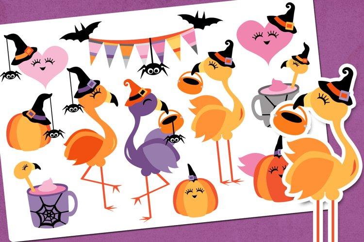 Flamingo Halloween Party Illustrations