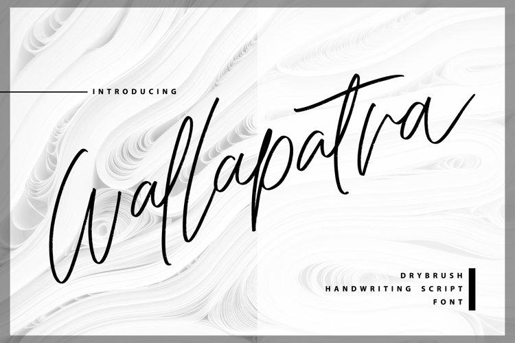 Wallapatra | Drybrush Handwriting Script Font example image 1
