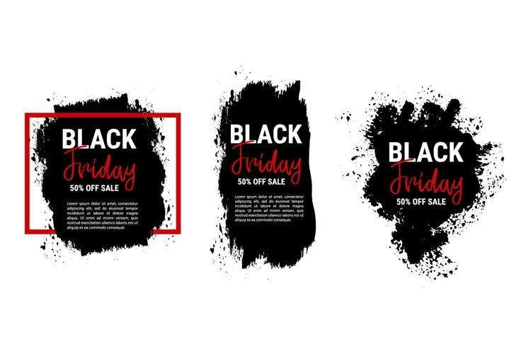 Collection of black friday sale banners example image 1