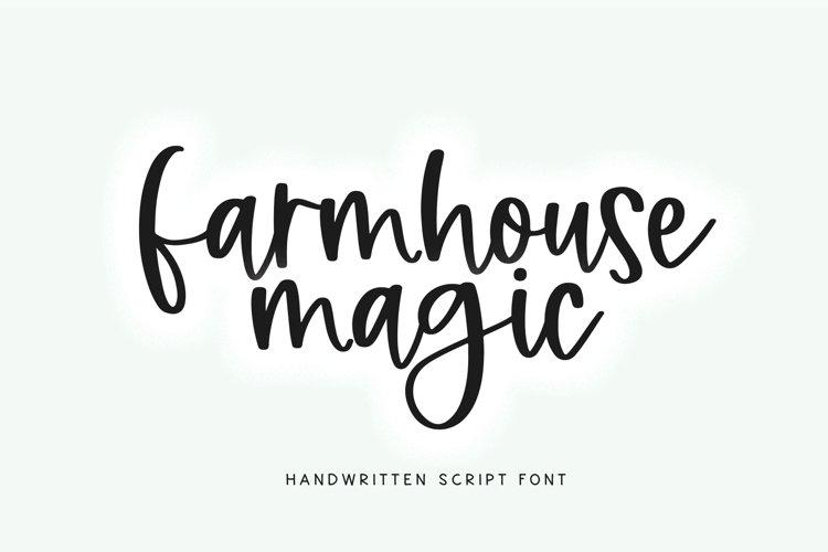Farmhouse Magic - A Handwritten Script Font example image 1