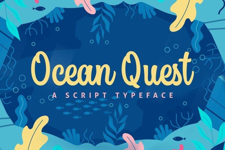 Web Font Ocean Quest example image 1